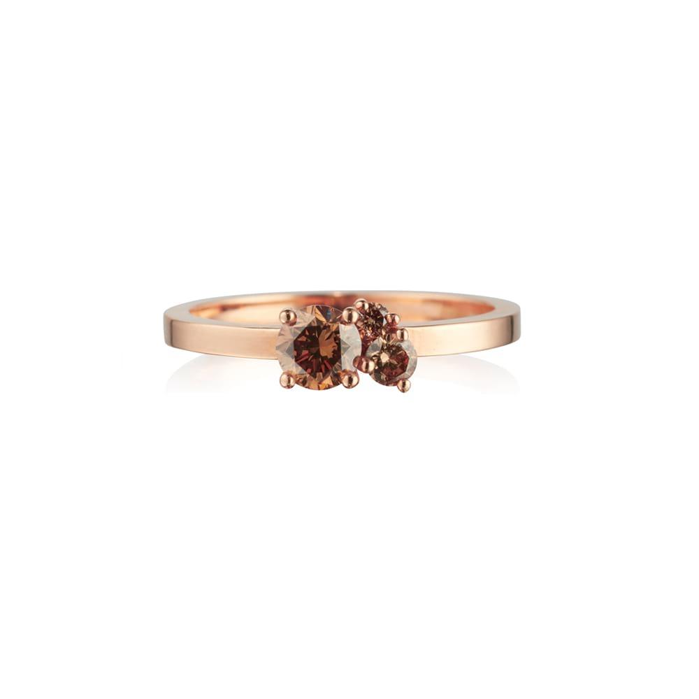 Chocolate Diamond Cluster Ring