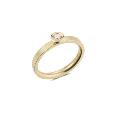 Gold Diamond Kaleidoscope ring