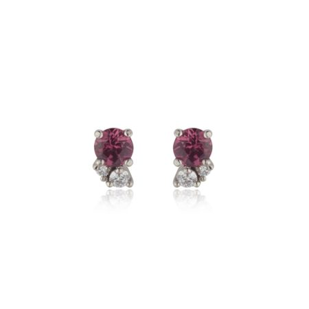 Rhodolite Garnet Cluster Earrings