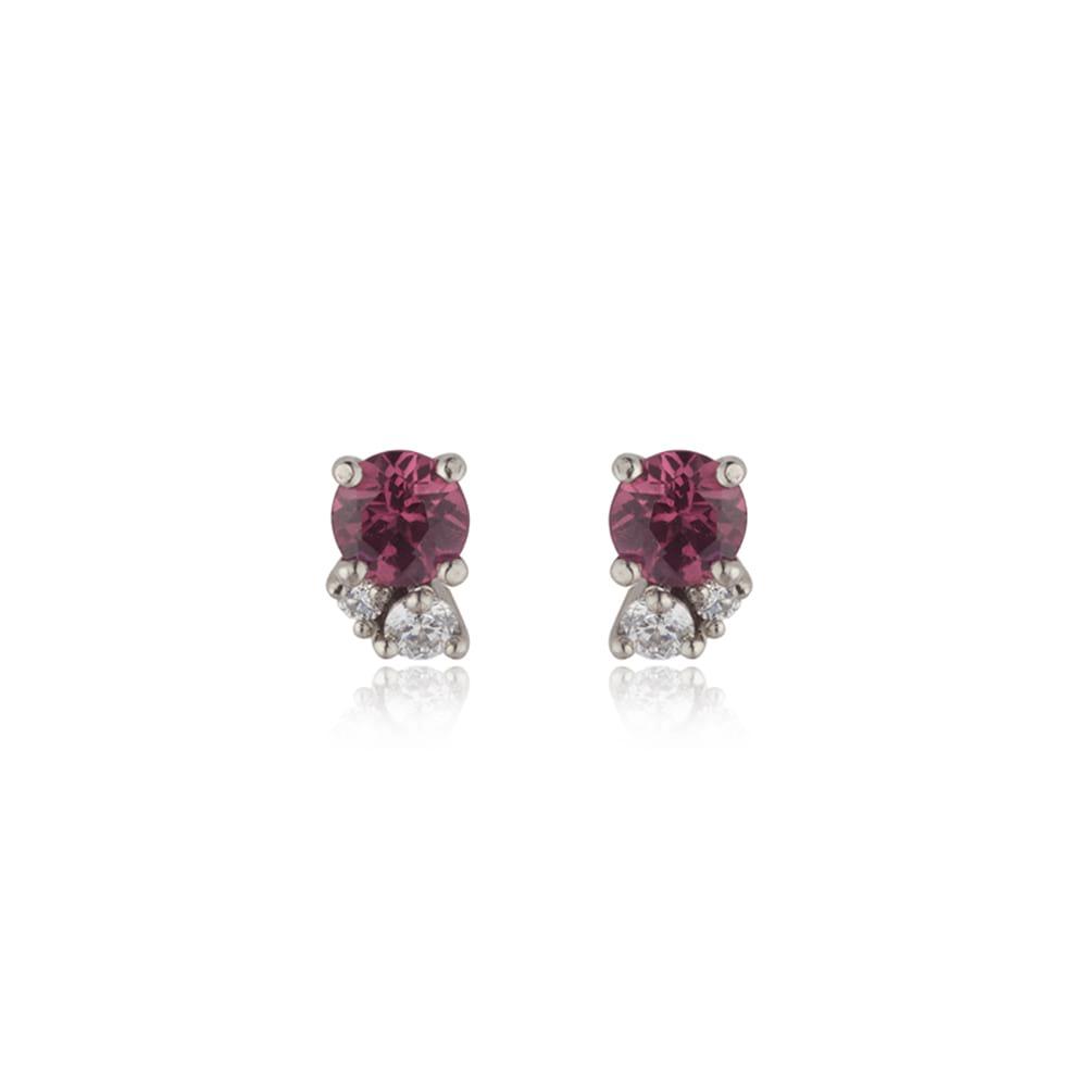 Rhodolite Garnet Cluster Earrings