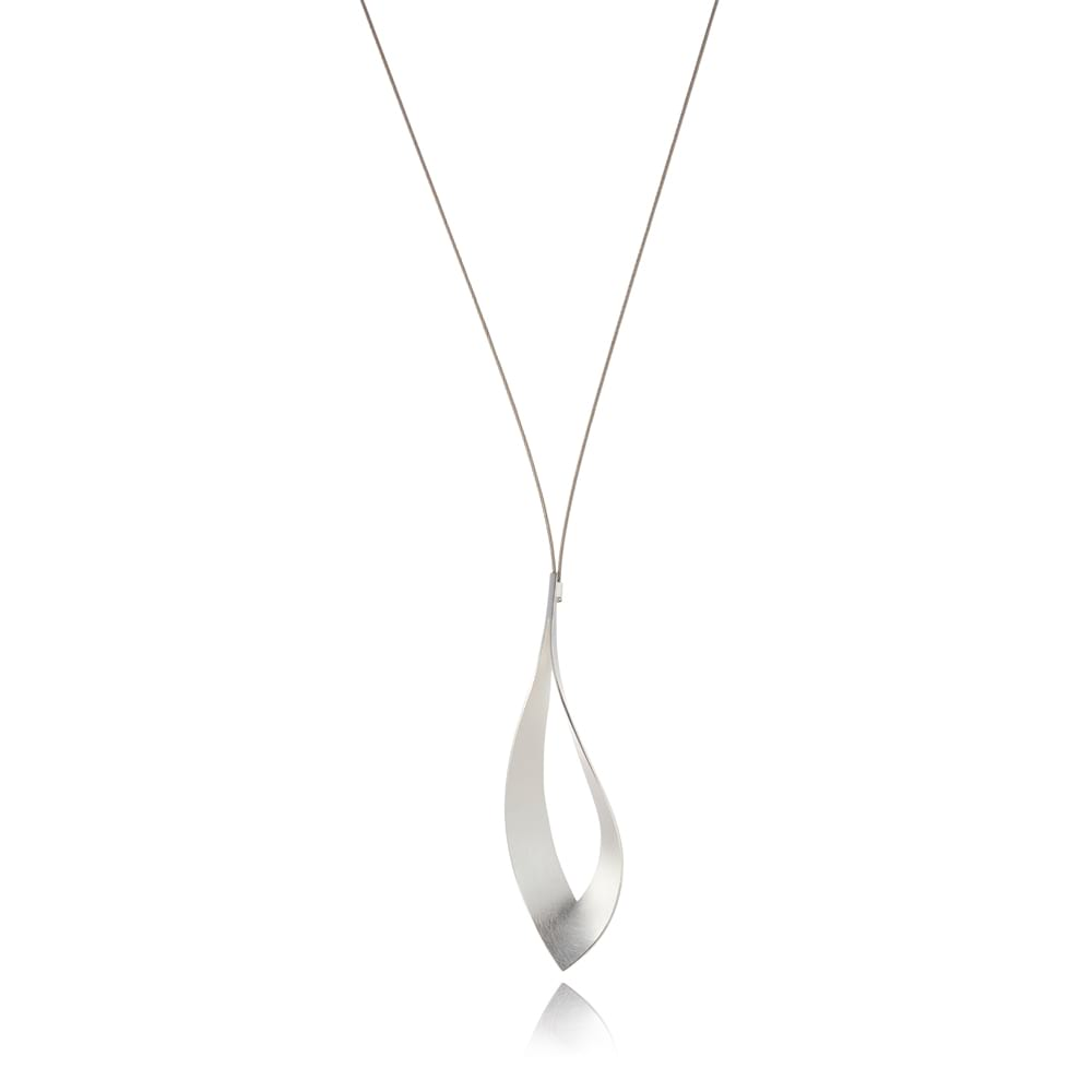 Silver Dancing Flame on Neckwire