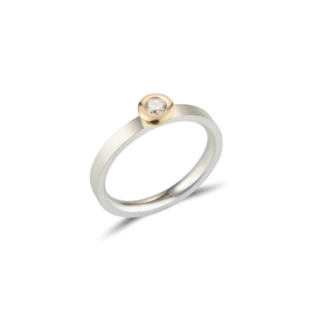 Silver Diamond Kaleidoscope Ring
