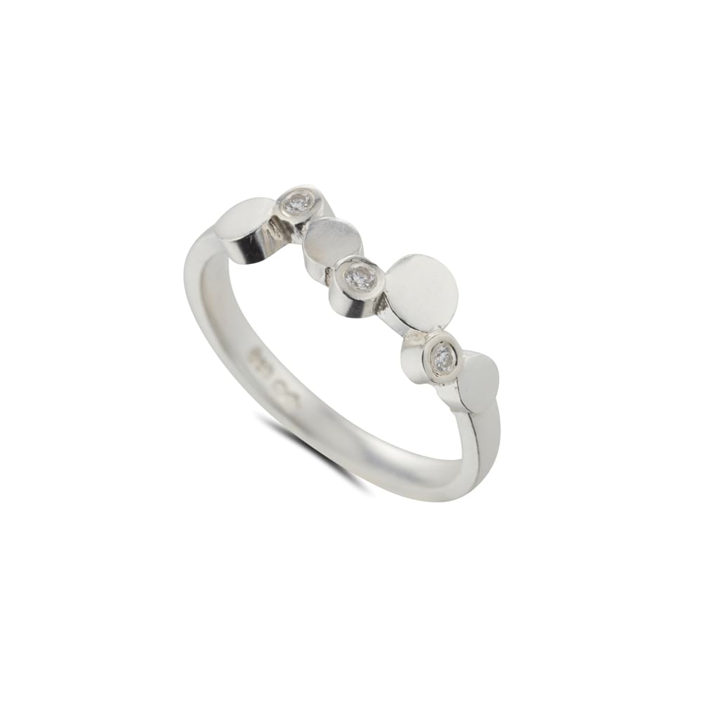 Silver Stepping Stones Multistone Ring