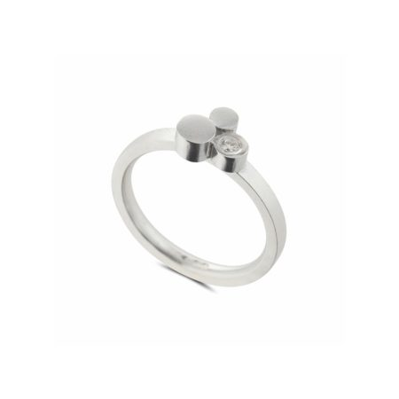Silver Stepping Stones Three Stone Ring