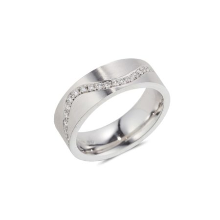 White Gold Wave Ring
