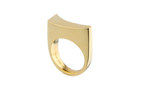 Yellow Gold Forged Ring