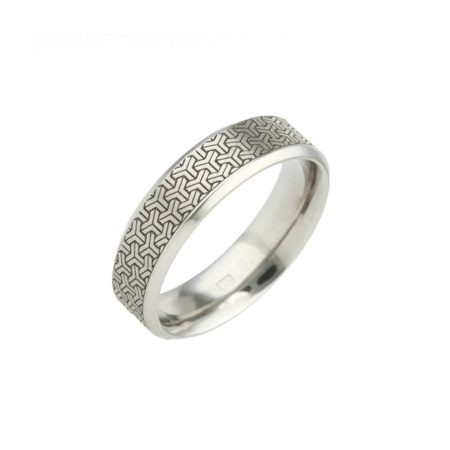 3D Effect Titanium Ring