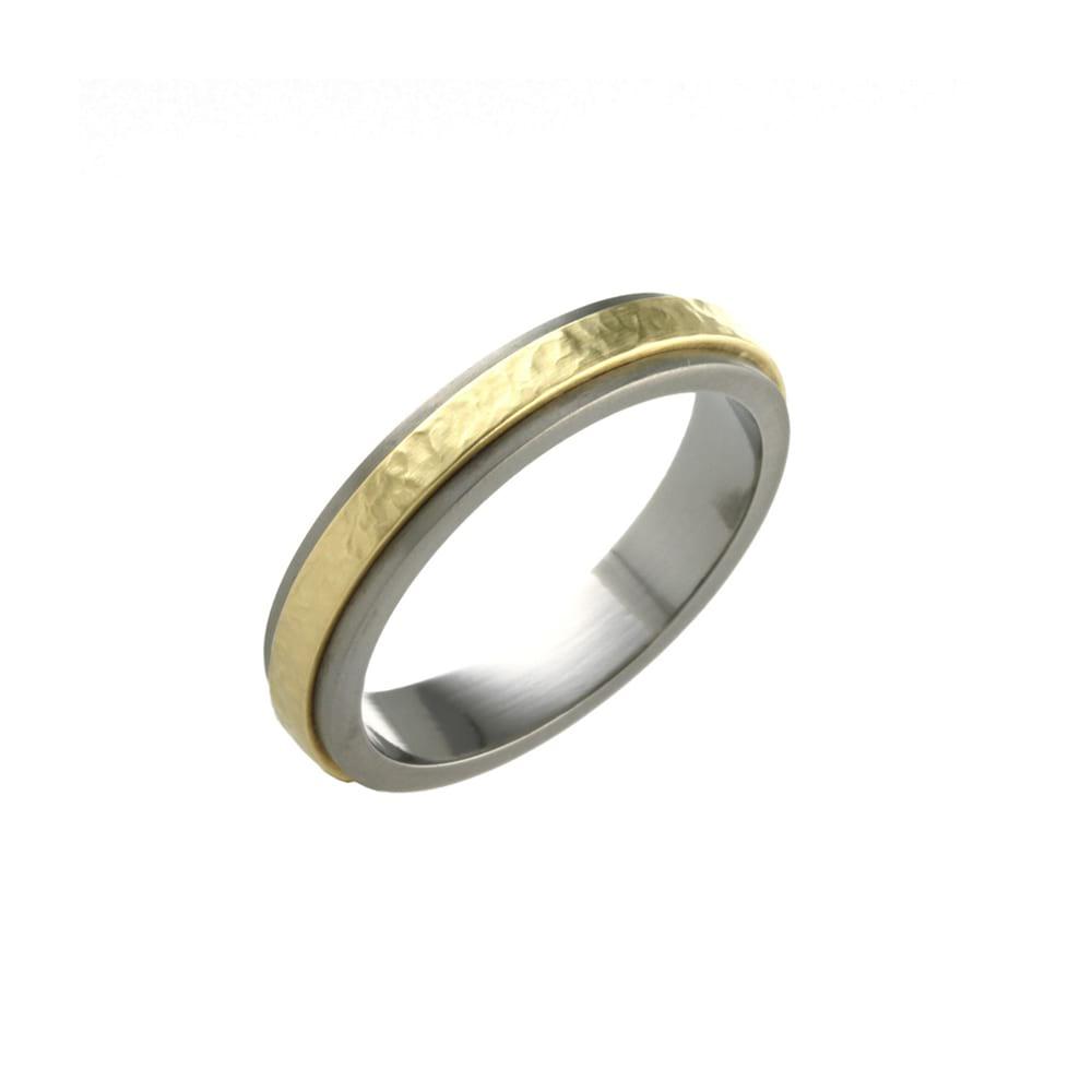 Lunar Titanium and 18ct Gold Ring