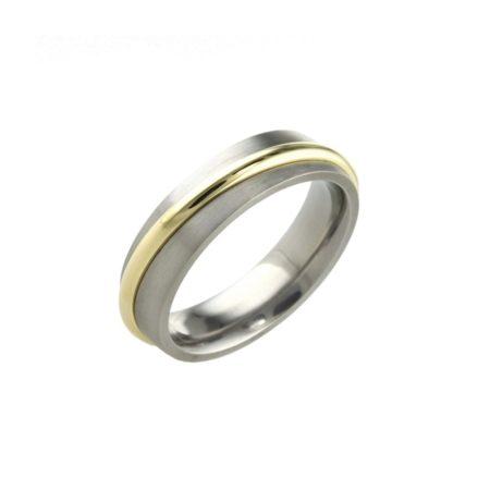 Orbital Titanium and 18ct YG Ring