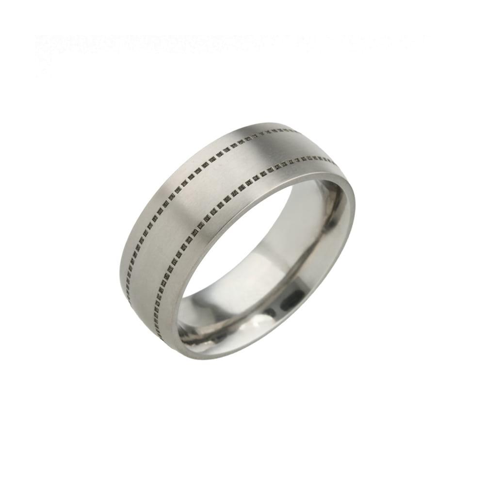 Square Stitch Titanium Ring