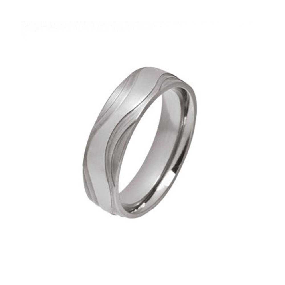 Tiered Wave Titanium Ring