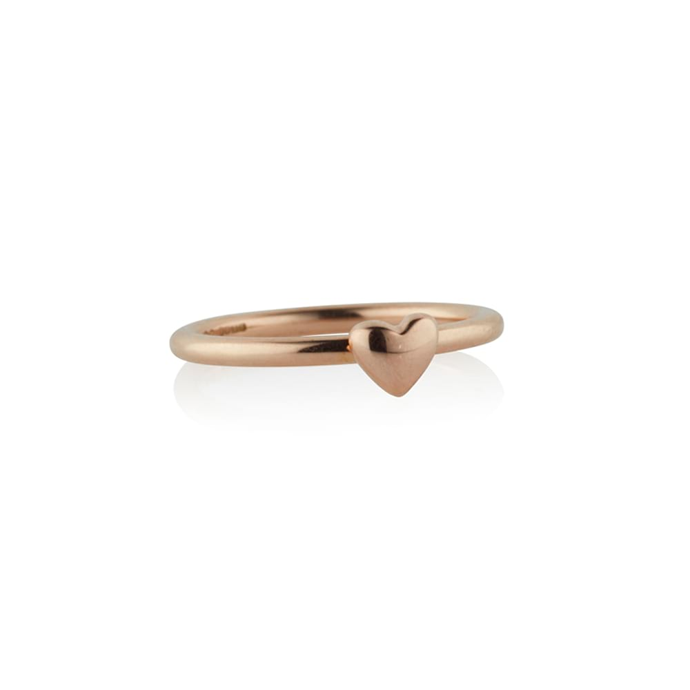 Rose Gold Tiny Hearts Ring