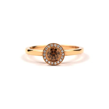 Chocolate Diamond Mini Linnea Ring