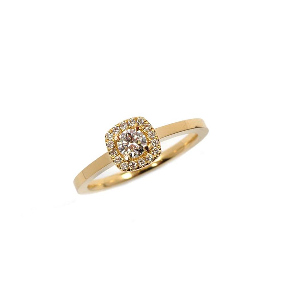 Gold Diamond Emelie Ring