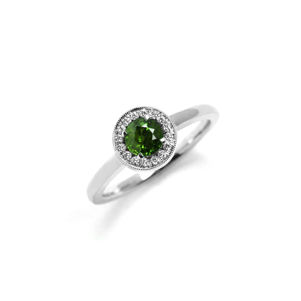 Green Tourmaline Vintage Westend Ring