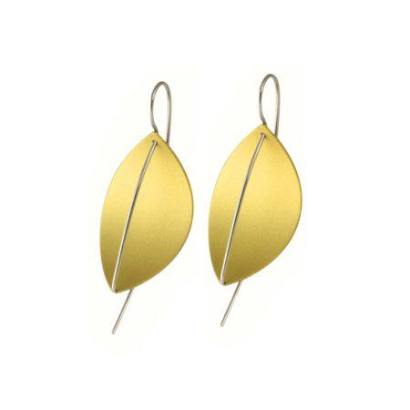 Gold Leaf Drop Earrings