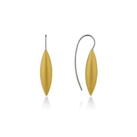 Tulip drop earrings - gold