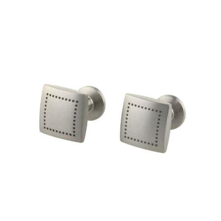 Square Dot Titanium Cufflinks